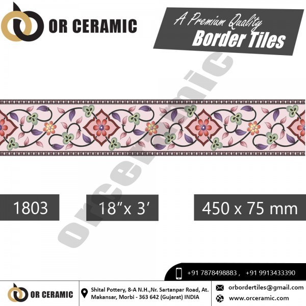 1803 Digital Border Tiles | OR Ceramic Morbi
