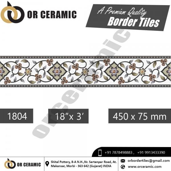 1804 Digital Border Tiles | OR Ceramic Morbi