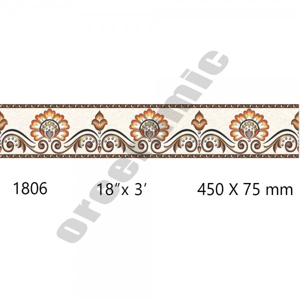 1806 Digital Border Tiles | OR Ceramic Morbi