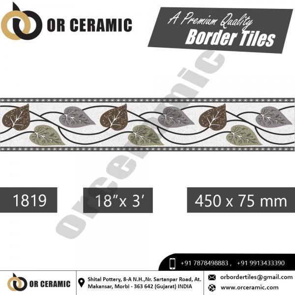 1819 Digital Border Tiles   OR Ceramic Morbi