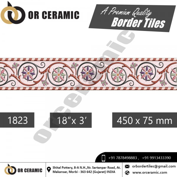 1823 Digital Border Tiles | OR Ceramic Morbi