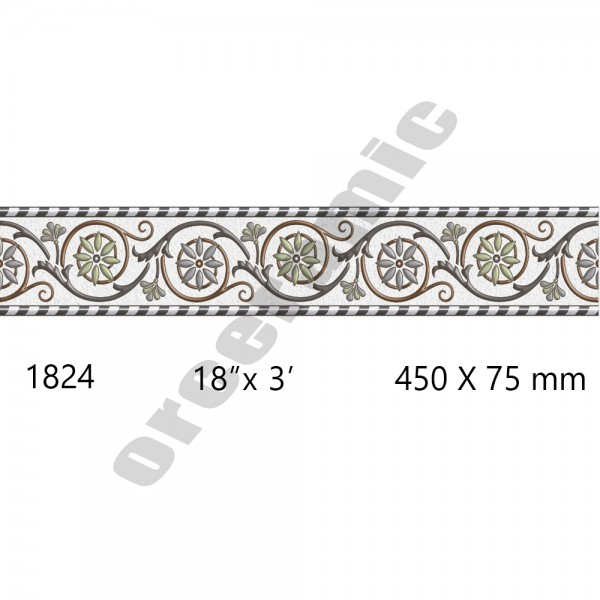 1824 Digital Border Tiles | OR Ceramic Morbi