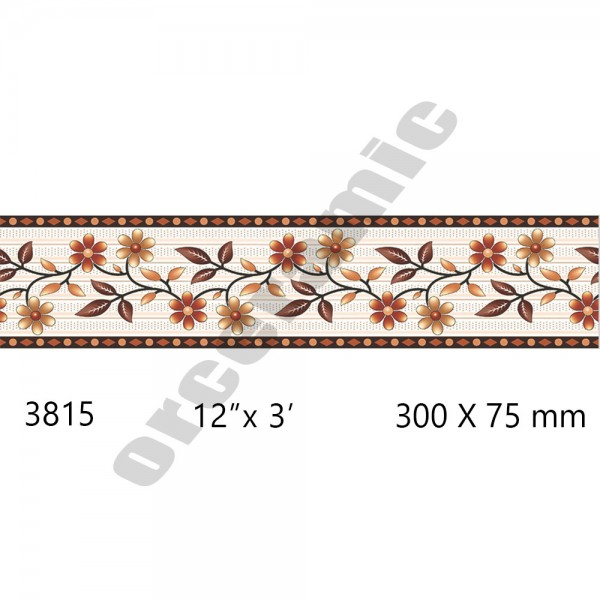 3815 Digital Border Tiles | OR Ceramic Morbi