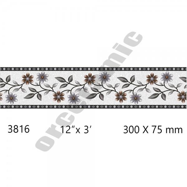 3816 Digital Border Tiles | OR Ceramic Morbi
