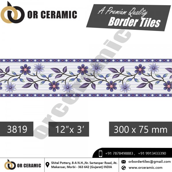 3819 Digital Border Tiles | OR Ceramic Morbi