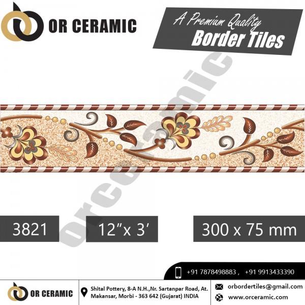 3821 Digital Border Tiles | OR Ceramic Morbi
