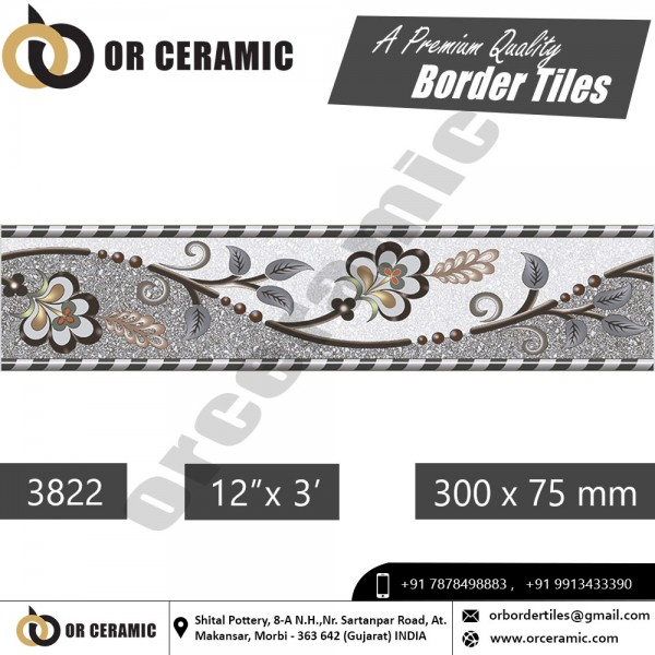 3822 Digital Border Tiles | OR Ceramic Morbi