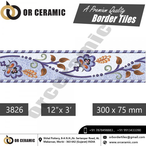 3826 Digital Border Tiles | OR Ceramic Morbi
