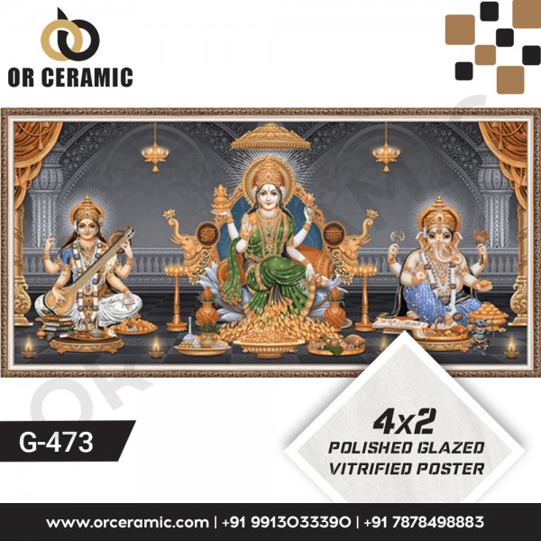 Goddess Laxmi and Saraswati | Wall Poster Picture Tiles