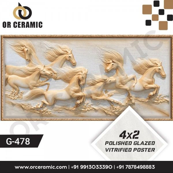 G-478 Horse | Wall Poster Picture Tiles