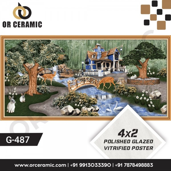 G-487 Natural | Wall Poster Picture Tiles